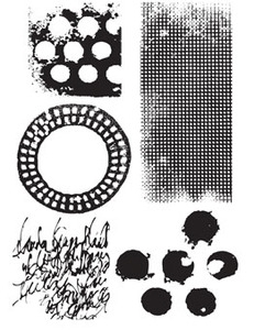 Dina Wakley TEXTURES Media Cling Rubber Stamp MDR41344