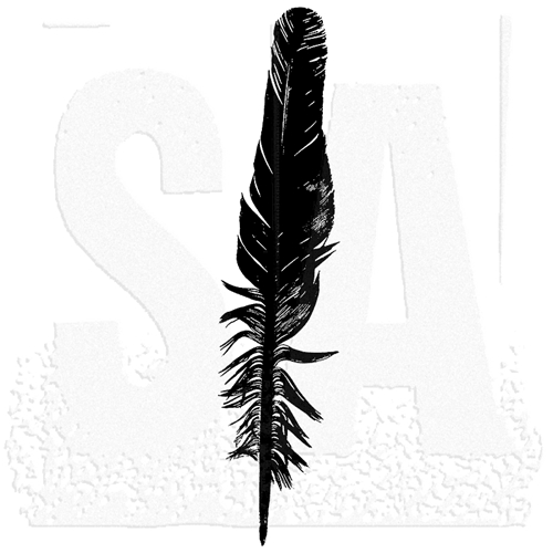 Tim Holtz Rubber Stamp FEATHER Stampers Anonymous K6-2298 Preview Image