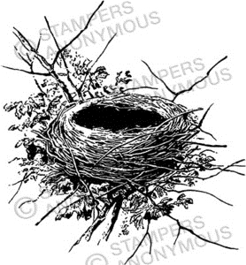 Tim Holtz Rubber Stamp NEST P1-2300 Preview Image