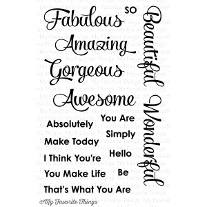 My Favorite Things SIMPLY FABULOUS SAYINGS Clear Stamps zoom image