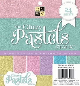 DCWV Cardstock 6 x 6 GLITZY PASTELS Paper Stack MS-019-00062 zoom image