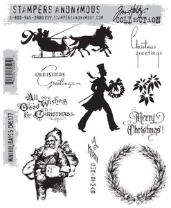 Tim Holtz Cling Rubber Stamps MINI HOLIDAYS 5 cms177 zoom image