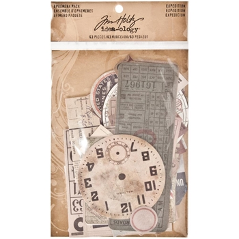 Tim Holtz Idea-ology Ephemera Pack EXPEDITION TH93115