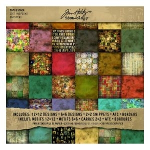 Tim Holtz Idea-ology 12 x 12 Paper Stash LOST AND FOUND TH92825*