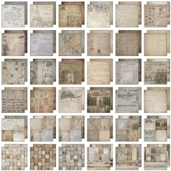 Tim Holtz Idea-ology 12 x 12 Paper Stash FRENCH INDUSTRIAL TH93052 Preview Image
