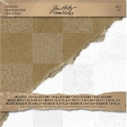 Tim Holtz Idea-ology 12 x 12 MOTIF Cardstock Pack TH93112 zoom image