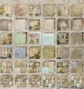 Tim Holtz Idea-ology 12 x 12 Paper Stash WALLFLOWER Cardstock Pack TH93110