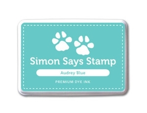 Simon Says Stamp Premium Dye Ink Pad AUDREY BLUE ink018 zoom image