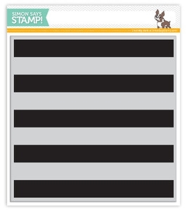 Simon Says Cling Rubber Stamp WIDE STRIPES BACKGROUND SSS101383 *