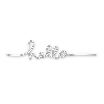 Simon Says Stamp Stencil HELLO LINE SSST121340