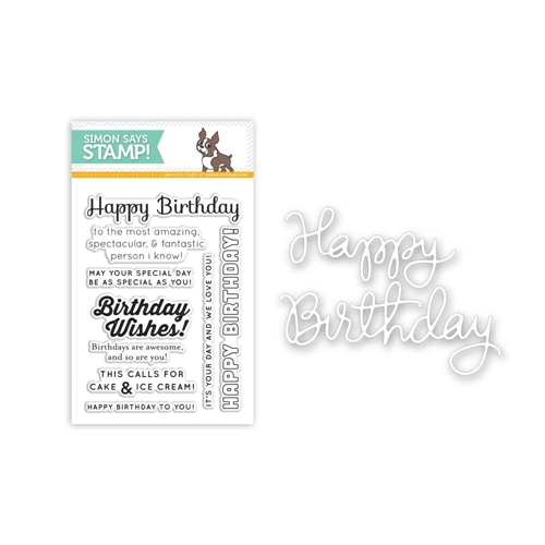 Simon Says Stamps And Dies BIRTHDAY SENTIMENTS SetB64 Preview Image