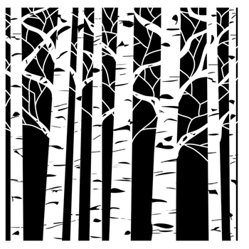 The Crafter's Workshop SMALL ASPEN TREES 6x6 Template TCW252S