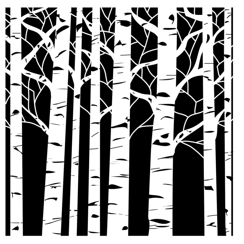 The Crafter's Workshop SMALL ASPEN TREES 6x6 Template TCW252S zoom image