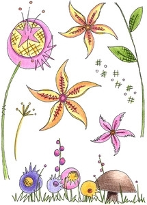 Paper Artsy JOFY 24 Rubber Cling Stamp JOFY24* Preview Image