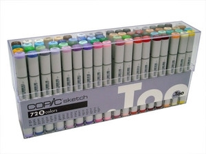 Copic SKETCH 72 PC SET D Markers DDDS72D