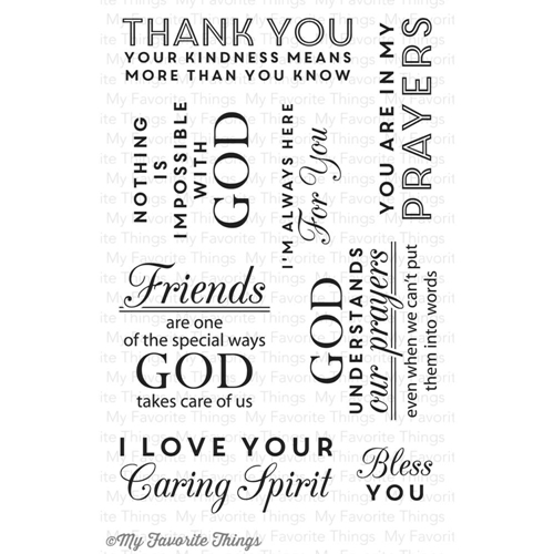 My Favorite Things WORDS OF INSPIRATION Clear Stamps Preview Image