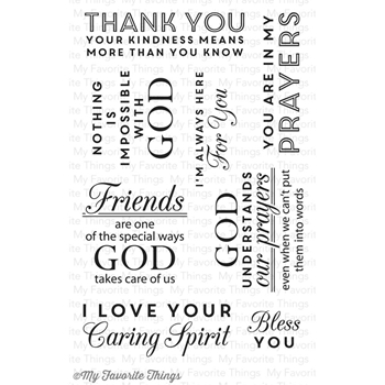 My Favorite Things WORDS OF INSPIRATION Clear Stamps
