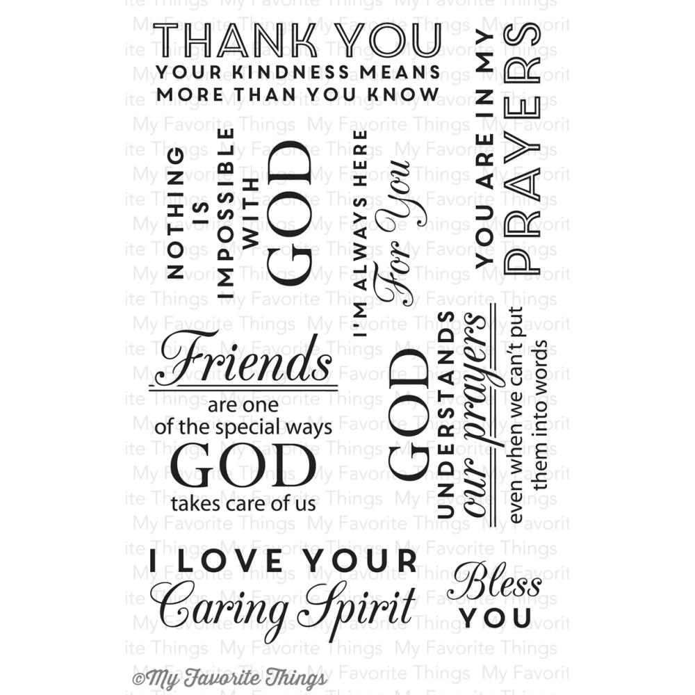 My Favorite Things WORDS OF INSPIRATION Clear Stamps zoom image