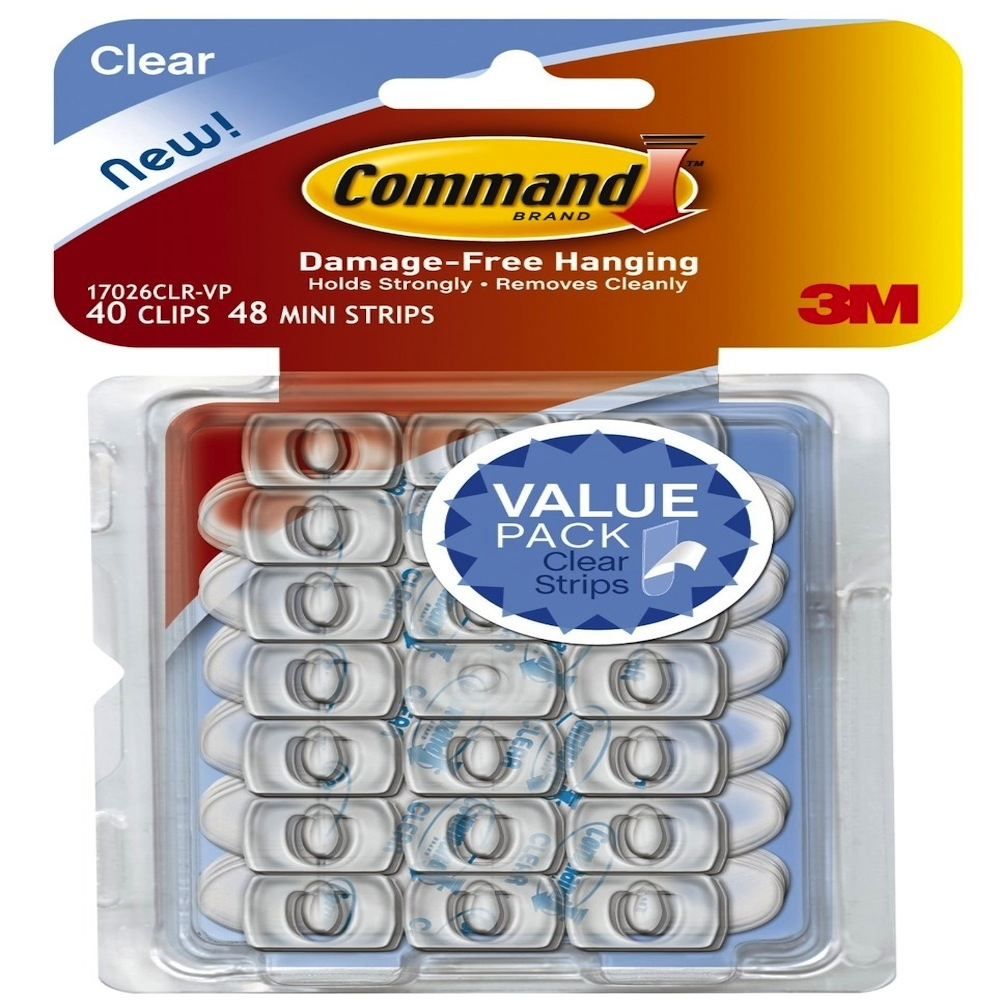 Command CLEAR CLIPS 40 Pack 17026CLR-VP zoom image