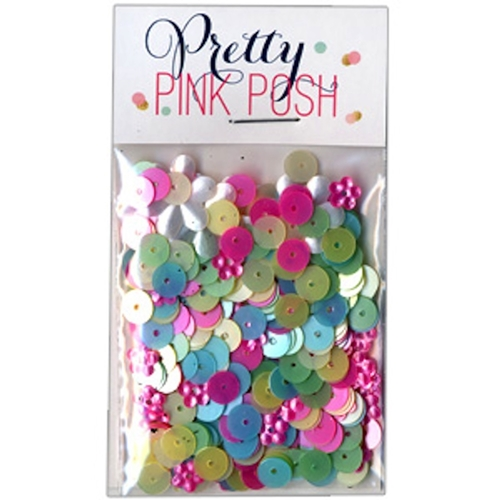 Pretty Pink Posh 6mm FLAT SPRINGTIME MIX  Sequins Preview Image
