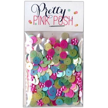 Pretty Pink Posh 6mm FLAT SPRINGTIME MIX  Sequins