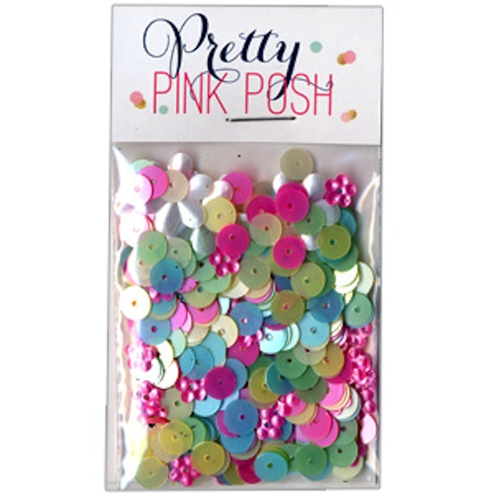 Pretty Pink Posh 6mm FLAT SPRINGTIME MIX  Sequins zoom image