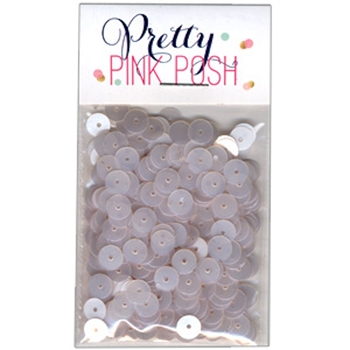 Pretty Pink Posh 6mm MARSHMALLOW Flat Sequins