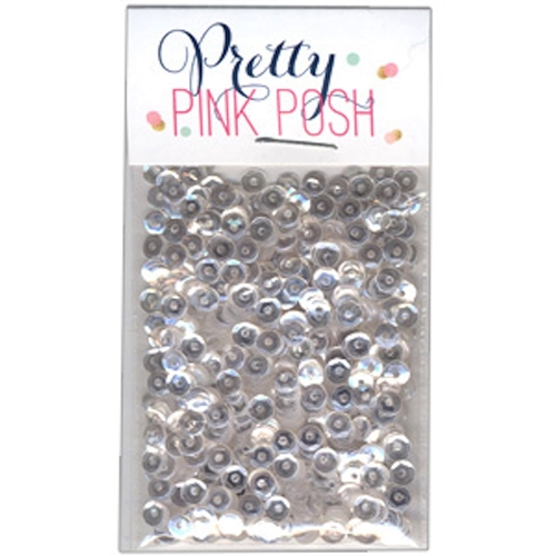 Pretty Pink Posh 4MM SPARKLING CLEAR Cupped Sequins Preview Image