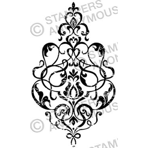 Tim Holtz Rubber Stamp DAMASK 3 Stampers Anonymous M3-2328 Preview Image