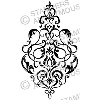 Tim Holtz Rubber Stamp DAMASK 3 Stampers Anonymous M3-2328*