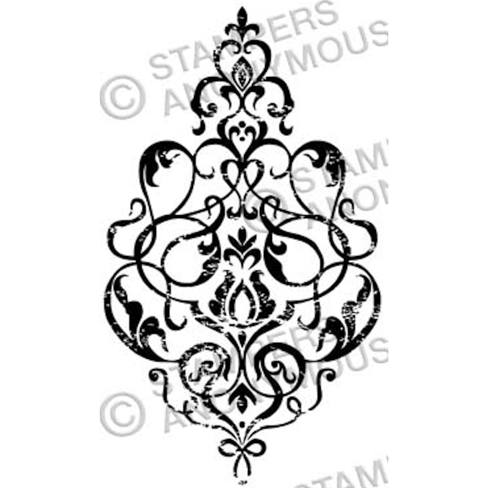 Tim Holtz Rubber Stamp DAMASK 3 Stampers Anonymous M3-2328 zoom image