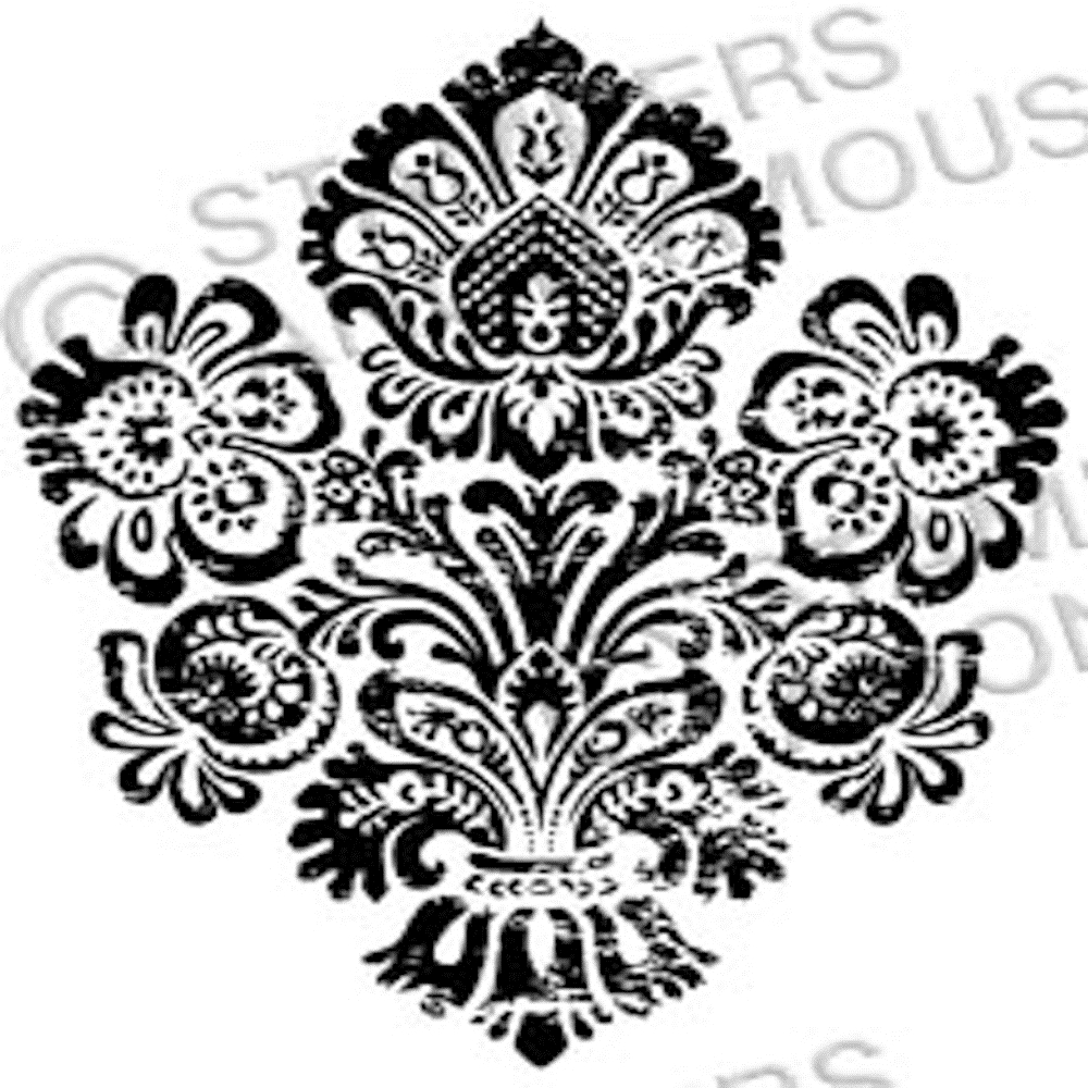 Tim Holtz Rubber Stamp DAMASK 4 Stampers Anonymous H2-2327 zoom image