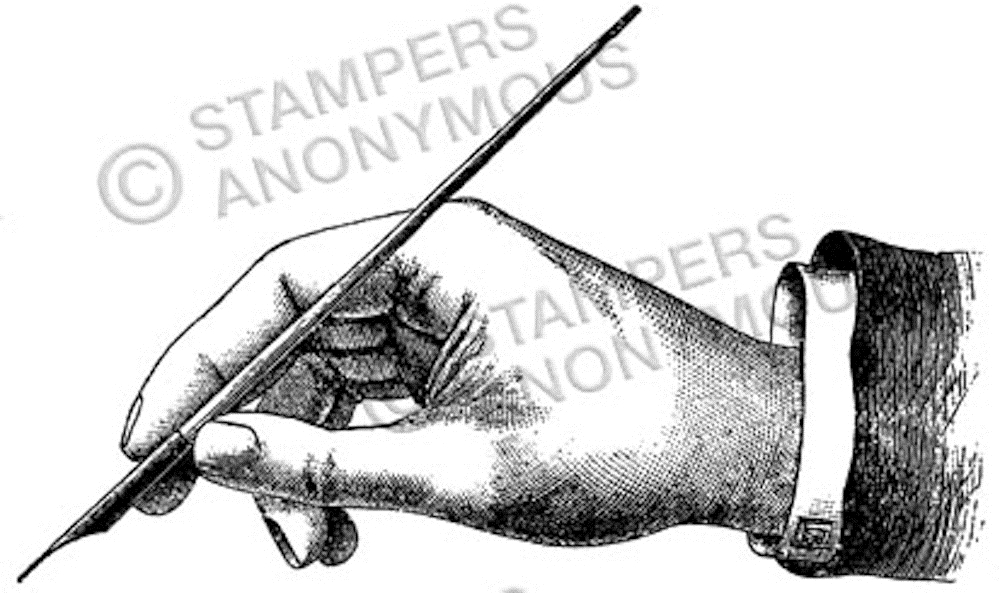 Tim Holtz Rubber Stamp PENMANSHIP Stampers Anonymous M1-2322 zoom image