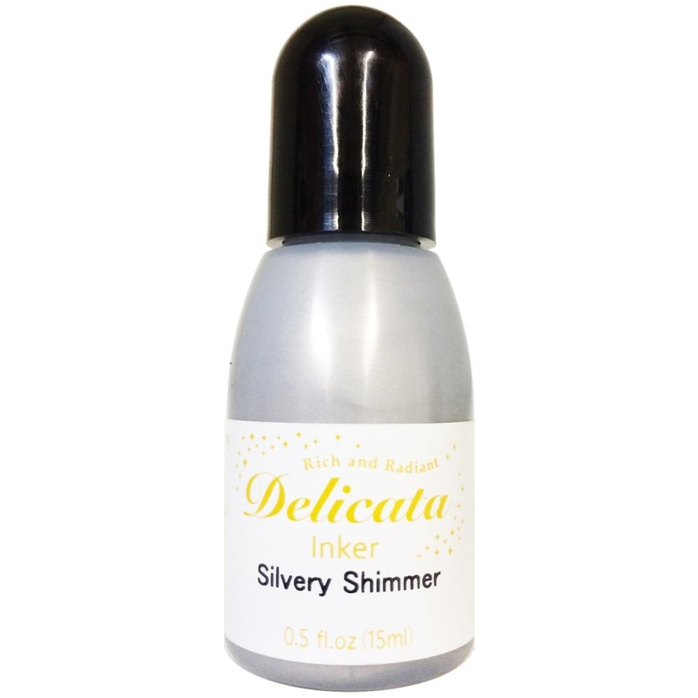 Tsukineko Delicata SILVERY SHIMMER REFILL Ink RC-000-192 zoom image