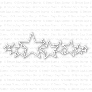 Simon Says Stamp STARS PARADE Wafer Die S227