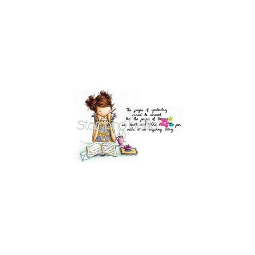 Stamping Bella Cling Stamp UPTOWN GIRL JAYDEN LOVES TO JOURNAL Rubber UM EB267 Preview Image