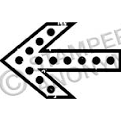 Tim Holtz Rubber Stamp ARROW 3 Stampers Anonymous D2-2338 Preview Image
