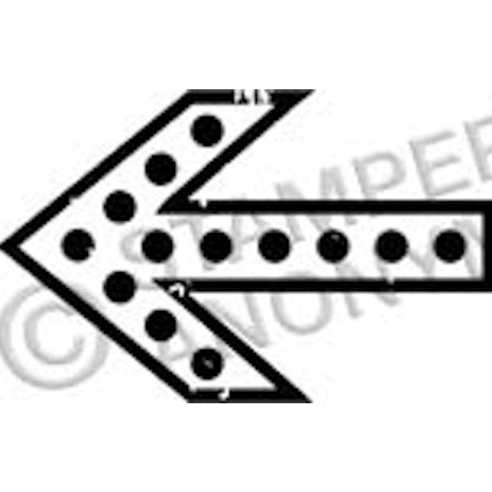 Tim Holtz Rubber Stamp ARROW 3 Stampers Anonymous D2-2338 zoom image