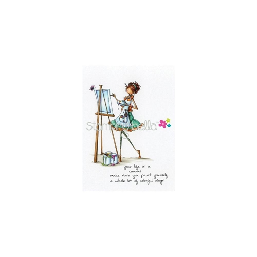 Stamping Bella Cling Stamp UPTOWN GIRL ABIGAIL THE ARTIST Rubber UM EB266* Preview Image