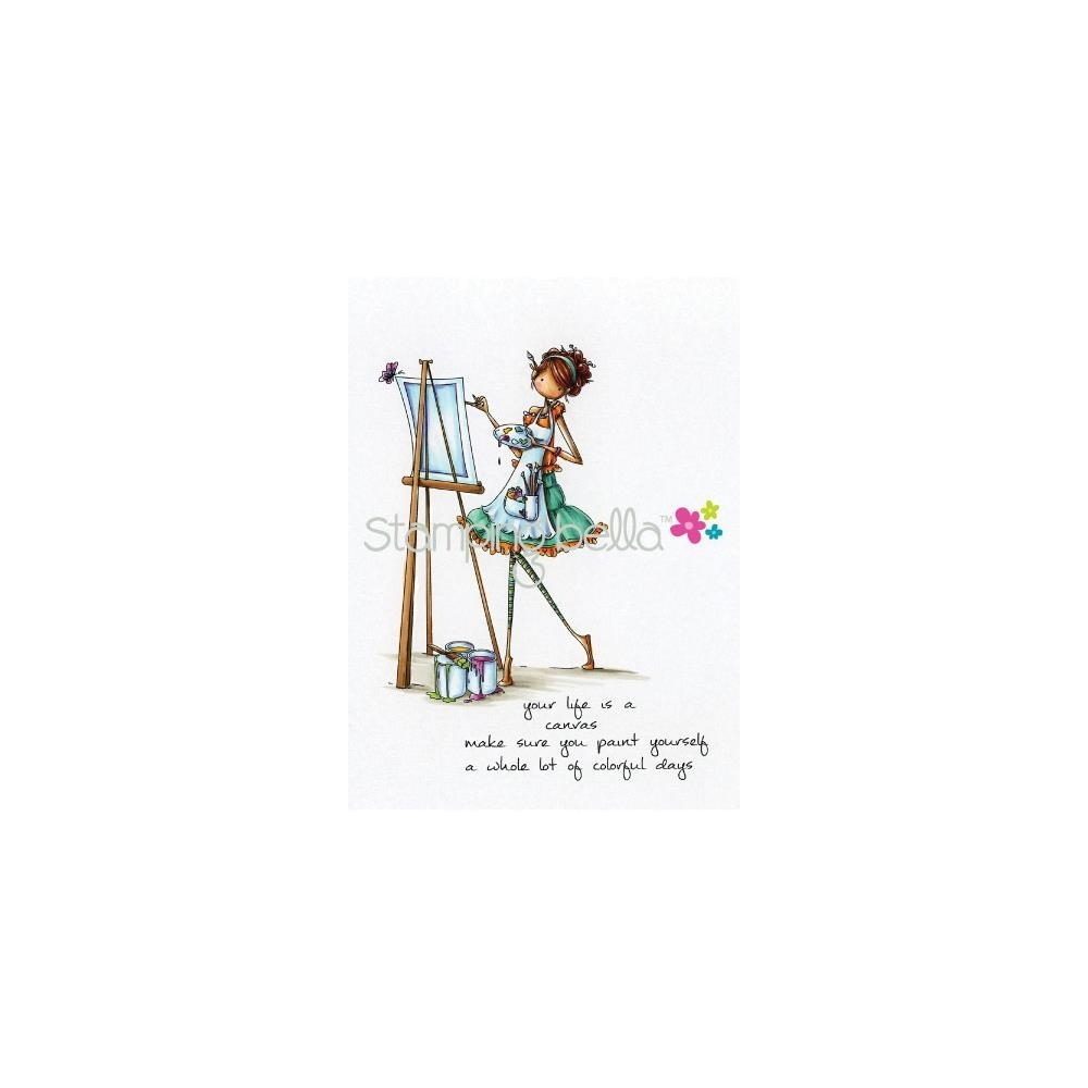 Stamping Bella Cling Stamp UPTOWN GIRL ABIGAIL THE ARTIST Rubber UM EB266 zoom image