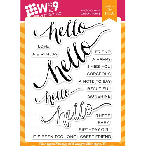 Wplus9 HAND LETTERED HELLO Clear Stamps CL-WP9HLH Preview Image