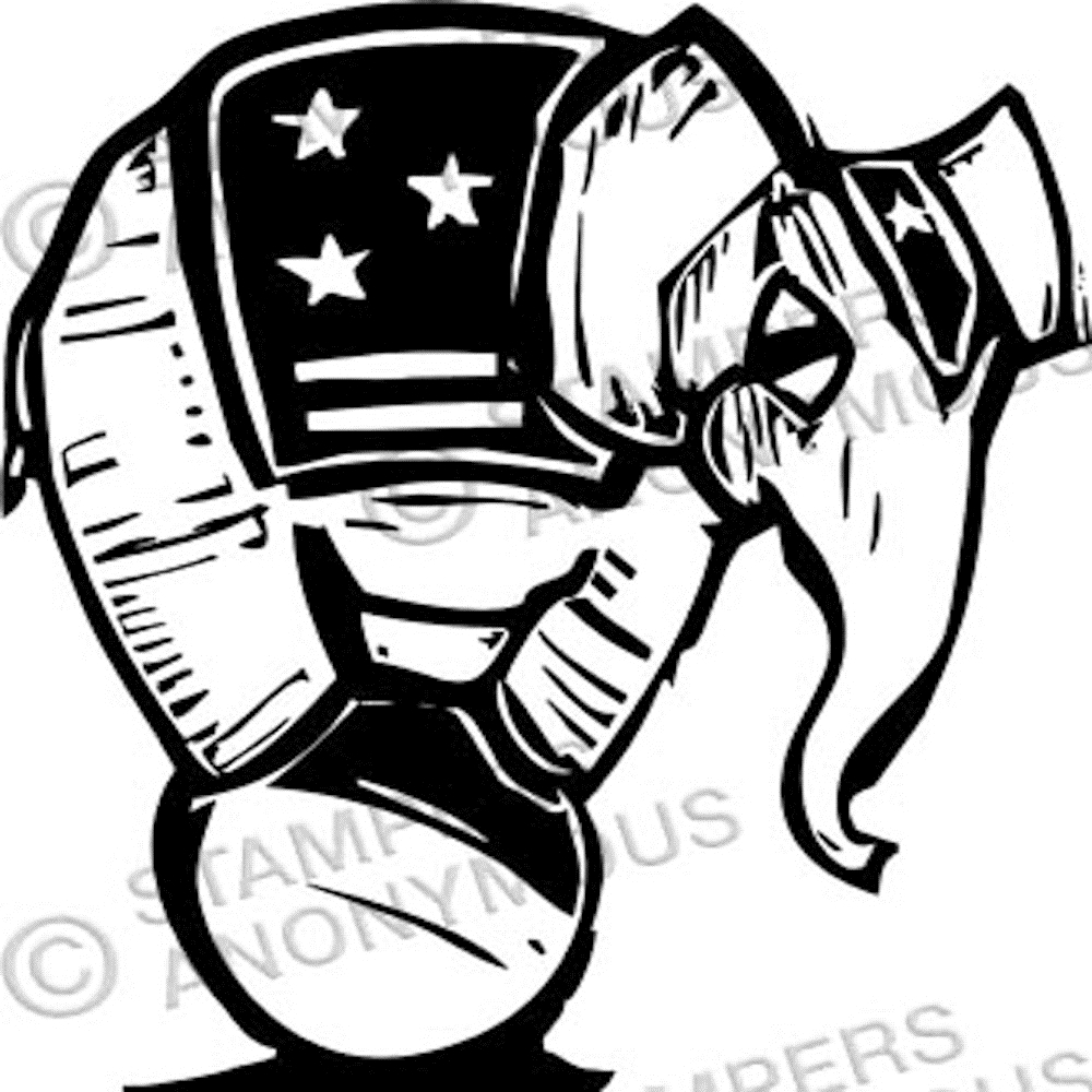 Tim Holtz Rubber Stamp CIRCUS ELEPHANT P1-2334 * zoom image