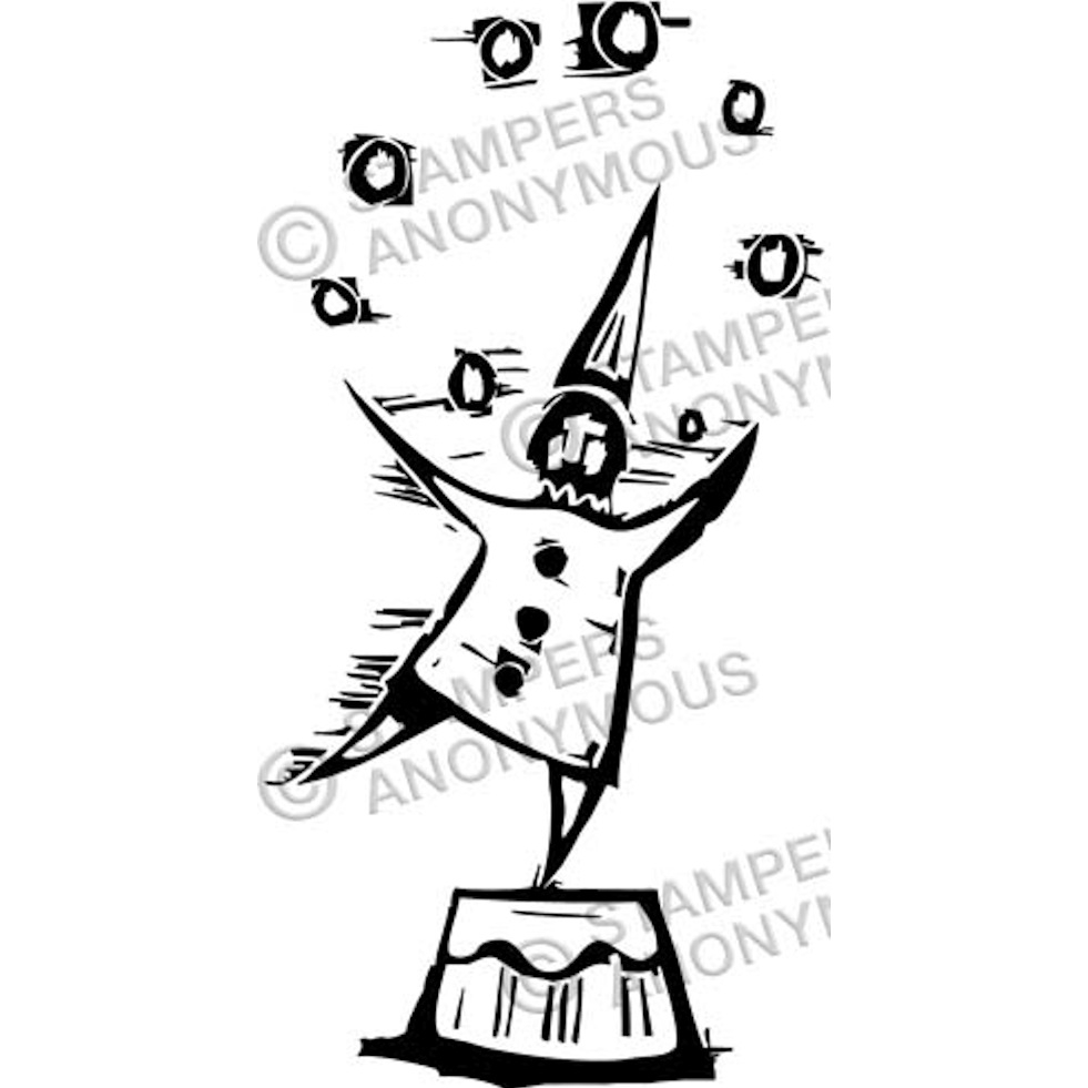 Tim Holtz Rubber Stamp JUGGLER Stampers Anonymous P2-2335* zoom image
