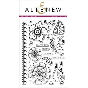 Altenew HENNAH ELEMENTS Clear Stamp Set ALT1002