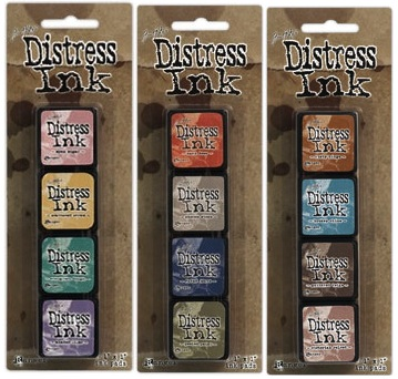 Tim Holtz MINI DISTRESS INK PADS SETS 4, 5, AND 6 Ranger DMIPSX456