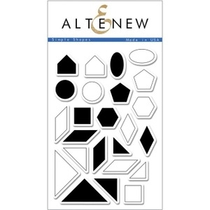 Altenew SIMPLE SHAPES Clear Stamp Set ALT1046