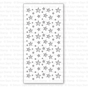Simon Says Stamp Stencil STARS & DOTS SSST121351 * zoom image