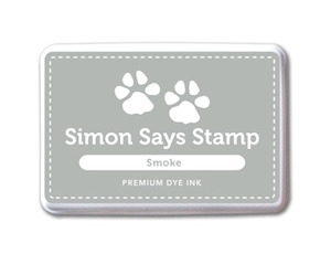 Simon Says Stamp Premium Dye Ink Pad SMOKE Gray Ink026 Preview Image
