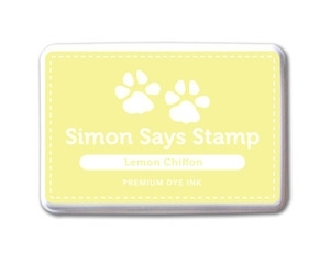 Simon Says Stamp Premium Dye Ink Pad LEMON CHIFFON Yellow Ink023