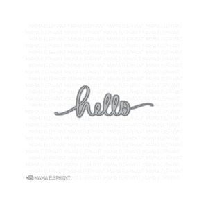 Mama Elephant HELLO SCRIPT Creative Cuts Steel Dies Preview Image